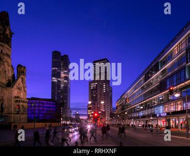 Berlin City sunset - Stock Photo