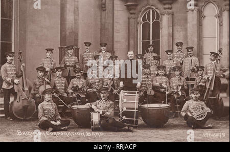 Vintage Photographic Postcard Showing The Band of The 2nd