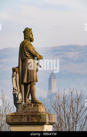 Statue of King Robert the Bruce at Stirling Castle, Stirling, Scotland, UK - Stock Photo