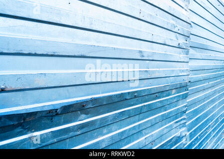 Industrial metal background. Corrugated zinc metal texture - Stock Photo