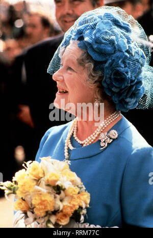Elizabeth, 4.8.1900 - 6.4.2002, Queen Consort of Great Britain 11.12.1936 - 6.2.1952, half length, 1980s, Additional-Rights-Clearance-Info-Not-Available - Stock Photo