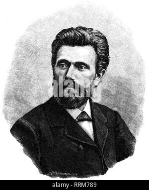 Bebel, August, 22.2.1840 - 13.8.1913, German politician, portrait, wood engraving by Robert Cremer, circa 1875, Artist's Copyright has not to be cleared - Stock Photo