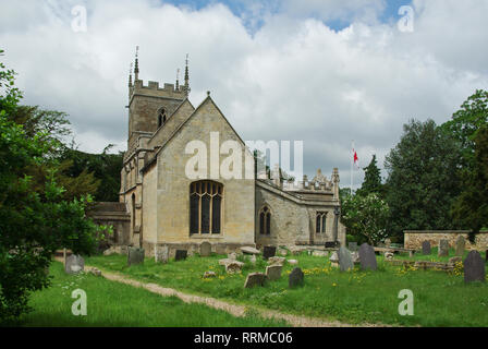 The parish church of St Peter and St Paul in the village of Belton, Near Grantham, Lincolnshire, UK - Stock Photo