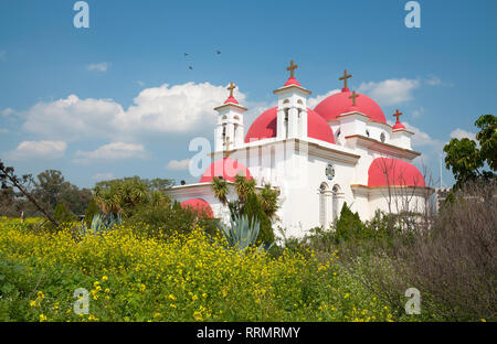 The Greek Orthodox Church of the Holy Apostles by the Sea of Galilee - Stock Photo