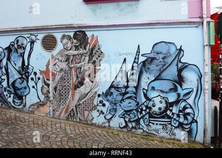 Street art in Stavanger. Norway - Stock Photo