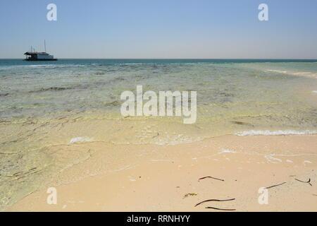 Seascape in Monkey Mia. Shark Bay. Coral Coast. Western Australia - Stock Photo