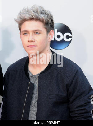 LOS ANGELES, CA - NOVEMBER 24: Singer Niall Horan of One Direction attends the 2013 American Music Awards on November 24, 2013 at Nokia Theatre L.A. Live in Los Angeles, California. Photo by Barry King/Alamy Stock Photo - Stock Photo
