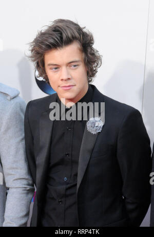 LOS ANGELES, CA - NOVEMBER 24: Singer Harry Styles of One Direction attends the 2013 American Music Awards on November 24, 2013 at Nokia Theatre L.A. Live in Los Angeles, California. Photo by Barry King/Alamy Stock Photo - Stock Photo