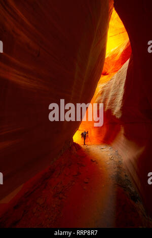Images from Peek-A-Boo Canyon in Grand Escalante National Monument in Utah - Stock Photo