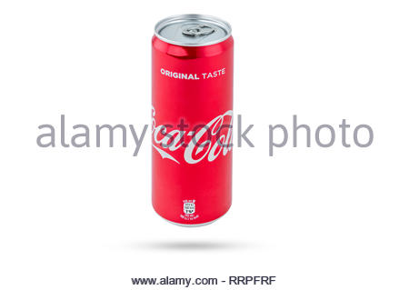 Coca cola can on a white background - Stock Photo