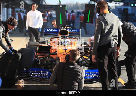 Circuit de Barcelona-Catalunya, Barcelona, Spain. 26th Feb, 2019. Formula One Testing Day 5; McLaren, Lando Norris Credit: Action Plus Sports/Alamy Live News - Stock Photo