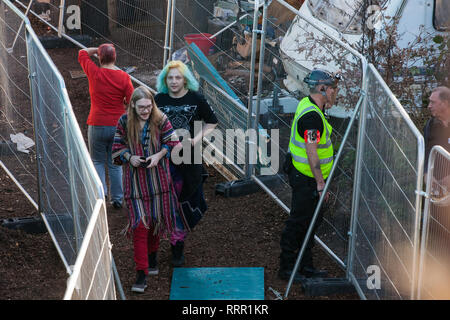 London, UK. 26th February, 2019. Residents of Grow Heathrow, a squatted eco-community founded in 2010 on a previously derelict site close to Heathrow airport in protest against government plans for a third runway. The community has since developed an extensive garden and is acknowledged to have made a significant educational and spiritual contribution to life in the Heathrow villages which are threatened by airport expansion. Credit: Mark Kerrison/Alamy Live News - Stock Photo