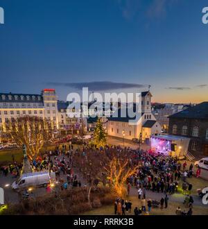 Christmas celebrations, Reykjavik, Iceland