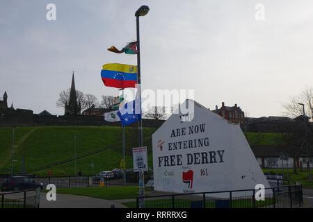 Bogside in Derry, Northern Ireland - Stock Photo