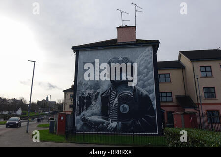 Bogside in Derry, Northern Ireland - Stock Photo