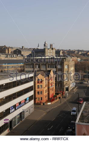 Elevated view of Seagate Dundee Scotland  February 2019 - Stock Photo