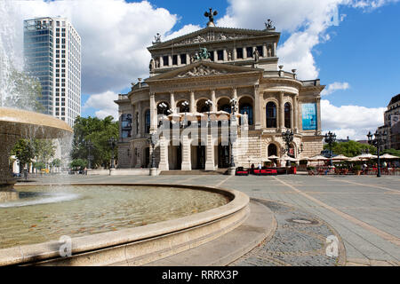 Europe Germany Hesse Rhine-Main Frankfurt Stock Exchange Alte Oper - Stock Photo