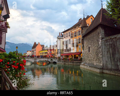 In the streets of amazing Annecy - Stock Photo