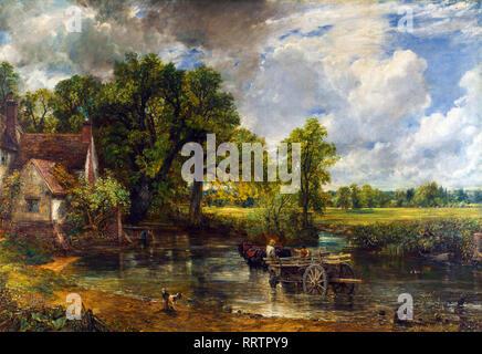 The Hay Wain, John Constable, 1821, landscape painting - Stock Photo