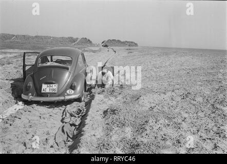 VW Beetle - VW Käfer unterwegs - Schlammschlacht  -  VI - Stock Photo