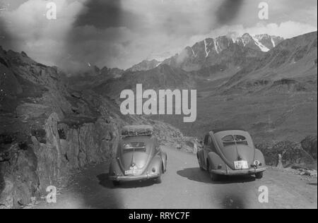 VW Beetle - VW Käfer unterwegs  -  Überholen - Stock Photo