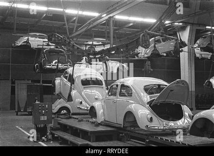 VW Beetle - VW Werke - VW Käfer  -  Karosserie-Fertigmontage - Stock Photo