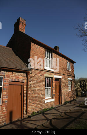 A cottage at the Black country living museum, Dudley, West midlands, England, UK. - Stock Photo
