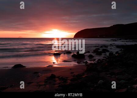 Winter sunrise at Kildalloig, Mull of Kintyre