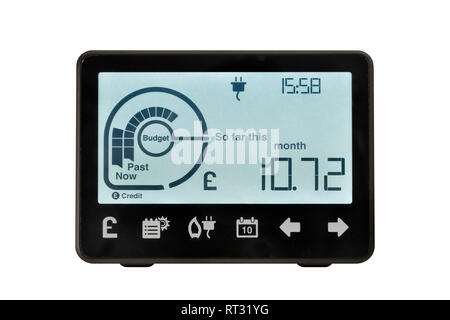 Smart Meter, United Kingdom. An electronic device for recording and monitoring the consumption of electricity in the home. - Stock Photo