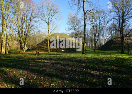 Bartlow Hills Burial Mounds - Stock Photo