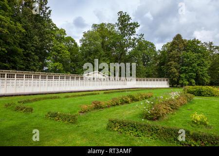 Summer houses of rehabilitation center in Krimulda manor, Sigulda Latvia. - Stock Photo