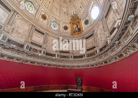 Seville, Spain - January 13, 2019: Dome of the museum inside the Seville cathedral, Andalucia, Spain - Stock Photo