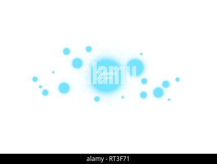 Cell background. Biology, Science background with cells. Biology background. Abstract vector cells illustration. Microscope view - Stock Photo