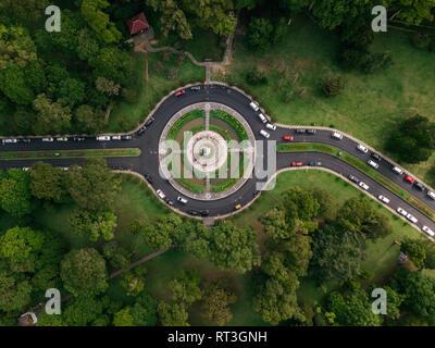 Indonesia, Bali, Bedugul, Bali Botanic Garden, roundabout