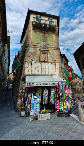 Souvenir shop in Siena, Italy. - Stock Photo