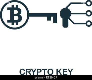 Crypto Key icon. Creative element design from fintech technology icons collection. Pixel perfect Crypto Key icon for web design, apps, software, print - Stock Photo