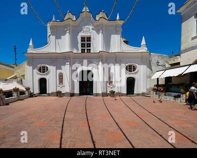 Italy, Campania, Capri, Piazza Diaz, Chiesa di Santa Sofia - Stock Photo