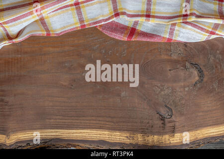 Wooden background with a veiled cloth in the upper part - Stock Photo
