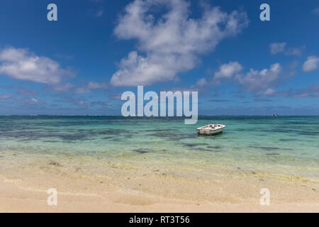 Mauritius, Flacq, East Coast, Indian Ocean, Belle Mare, boat - Stock Photo