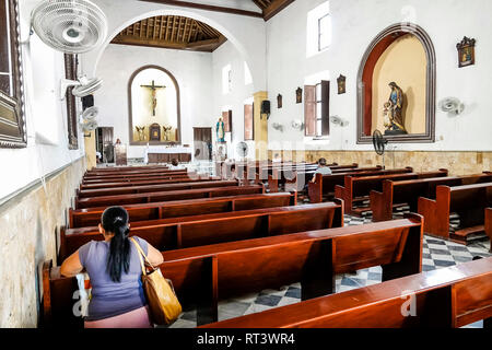 Cartagena Colombia Old Walled City Center centre Centro Iglesia de la Tercera Orden San Francisco Convent 1735 18th Century church cathedral Catholic - Stock Photo