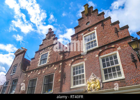 Typical roof of house in Edam, Netherlands - Stock Photo