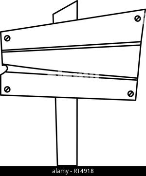 wooden board signal on white background vector illustration - Stock Photo