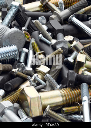 assorted metal bolts - Stock Photo
