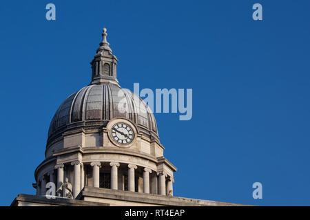 Nottingham Council House (city hall), Old Market Square, City of Nottingham, England, UK