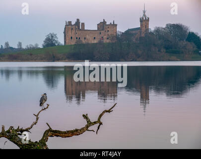 Linlithgow Palace, West Lothian, birthplace of Mary Queen of Scots. - Stock Photo