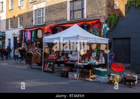 Portobello Road, Notting Hill, London - Stock Photo