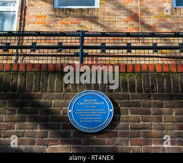 Blue Plaques celebrating individuals who organised and developed the annual Notting Hill Carnival: Rhaune Laslett-O'Brien - Stock Photo