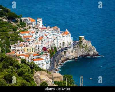 Italy, Campania, Amalfi Coast, Sorrento Peninsula, Amalfi - Stock Photo