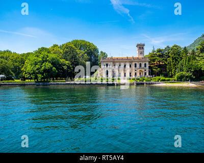 Italy, Lombardy, Lake Como, gorgeous villa at the lakeshore