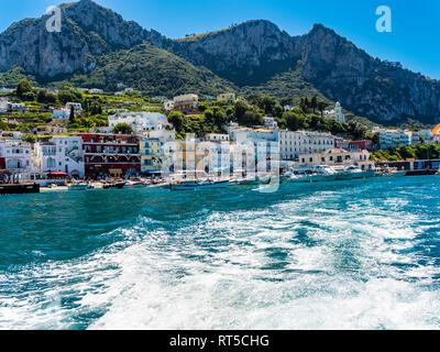 Italy, Campania, Capri, Marina Grande - Stock Photo